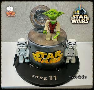 Star wars Lego cake - Cake by Gele's Cookies