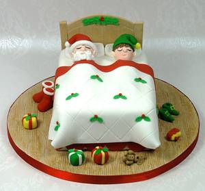 Father Christmas & the Elf - Cake by Ceri Badham