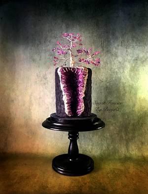 Geode Gemstone Tree - Cake by SugarfanciesbyPooja