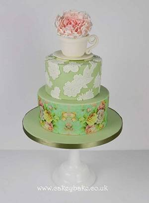 Vintage Afternoon tea Cake - Cake by CakeyBake (Kirsty Low)