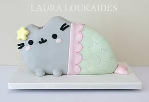Pusheen Mermaid Cake - Cake by Laura Loukaides