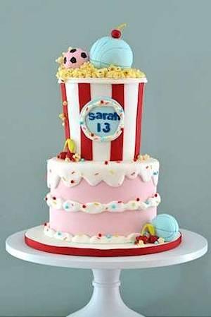 The Sugar Nursery's Popcorn Cake - Cake by The Sugar Nursery - Cake Shop & Imaginarium
