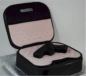 Glock 9mm Gun Grooms Cake - Cake by Jenniffer White