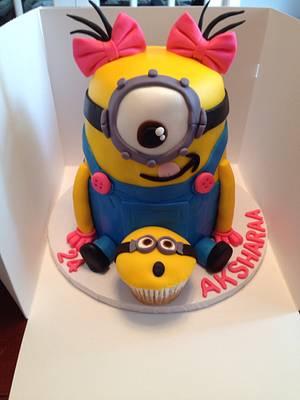 Sweet girlie Minion Cake - Cake by Raindrops