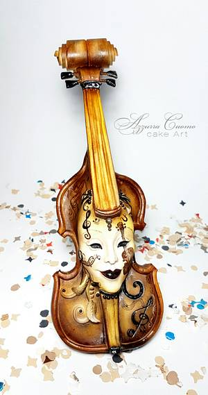 Carnival Cakers Collaboration: the violin mask❤ - Cake by Azzurra Cuomo Cake Art