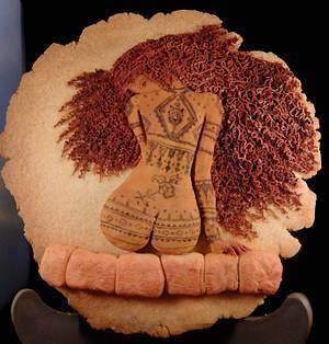 Mujer tatuada- tattooed woman  - Cake by Juillett