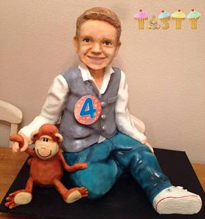 A lifesize cake of your 4 year old son?... Sure :)  - Cake by Lara Clarke