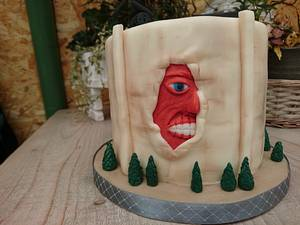 Anime Attack on titan  - Cake by Cakesbymarloes
