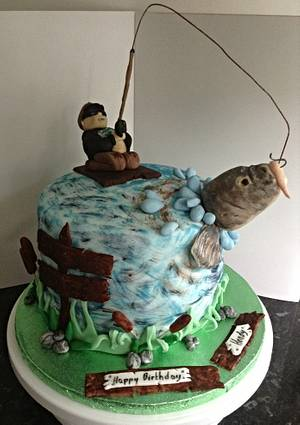 Catching a big one !  - Cake by Marie