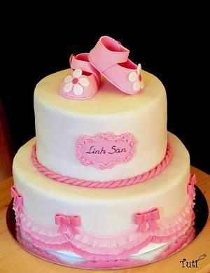 baby girl cake - Cake by tuti