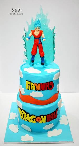 Dragonball!!! Goku Super Saiyan God Blue  - Cake by S&M artistic sweets