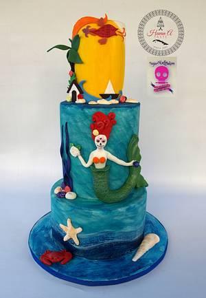 Sugar Skull Bakers Island Mermaid - Cake by Havan a Taste