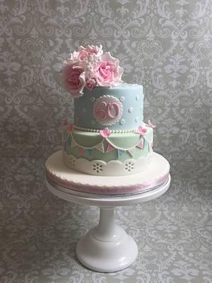 Vintage style birthday cake - Cake by teresascakes