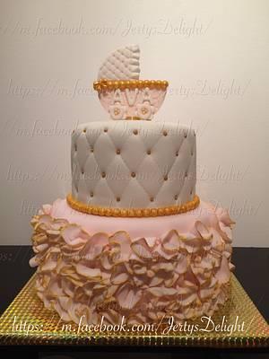 Baby shower cake - Cake by Jertysdelight
