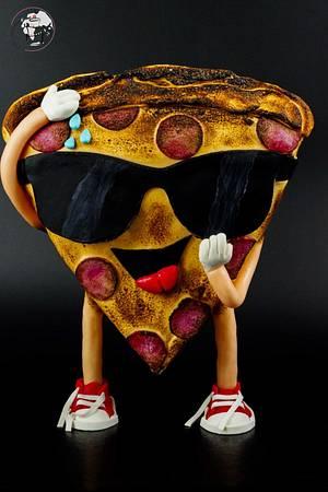 Mr Pizza slice - Cake by Katarzyna Rarok