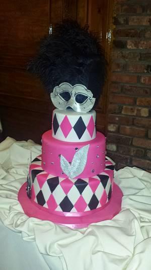 Masquerade Sweet 16 Cake - Cake by Tomyka