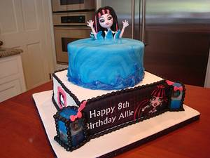 Monster High Draculaura Pool Party Cake - Cake by BellaCakes & Confections