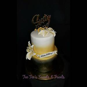 Lilies and gold - Cake by Tee Tee's Sweets
