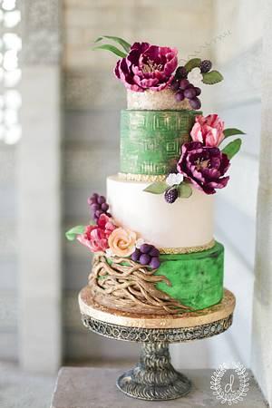 Dutch Still Life Inspired Wedding Cake - Cake by Bliss Pastry