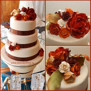 Fall Themed Wedding Cake  - Cake by It's a Cake Thing