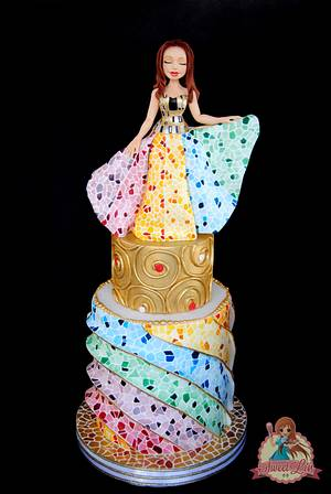 When Gaudi Meet Klimt - Sugar Art Museum Collaboration - Cake by SweetLin