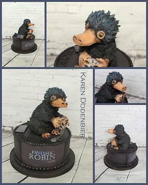Niffler - Fantastic Beasts  - Cake by Karen Dodenbier