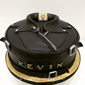 Leather Jacket biker cake - Cake by Costa Cupcake Company