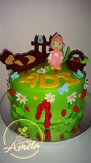 masha and the bear cake - Cake by Torte Amela
