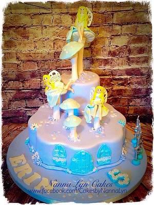 Moonlight fairies - Cake by Nanna Lyn Cakes