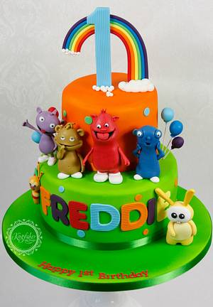 Baby TV Cake with The Cuddlies - Cake by kingfisher