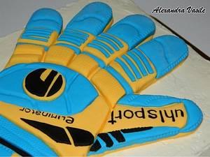 Soccer glove cake - Cake by alexandravasile