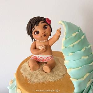 Baby Moana - Cake by Couture cakes by Olga