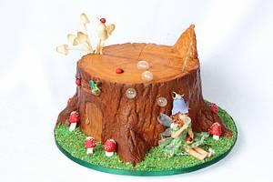 Tree stump cake - Cake by Anastasia Kaliazin