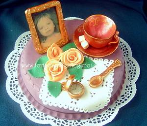 Vintage teaparty cake - Cake by Ildikó Dudek