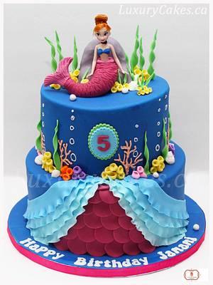 Frozen Anna mermaid cake - Cake by Sobi Thiru