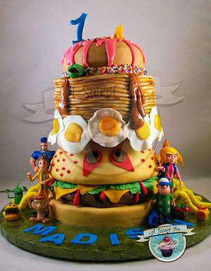 Cloudy with a Chance of Meatballs 2 - Cake by Heather Nicole Chitty