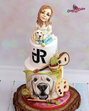 Miss artist - Cake by crazycakes