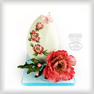 """Peony Easter  Egg"" - Cake by Aspasia Stamou"
