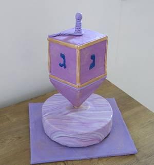 Hanukah Spinning Top- On Point - Cake by The Garden Baker
