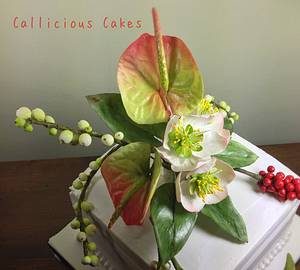 Christmas Floral Cake - Cake by Calli Creations
