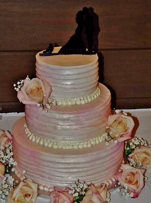 Pretty in pink wedding cake - Cake by Nancys Fancys Cakes & Catering (Nancy Goolsby)
