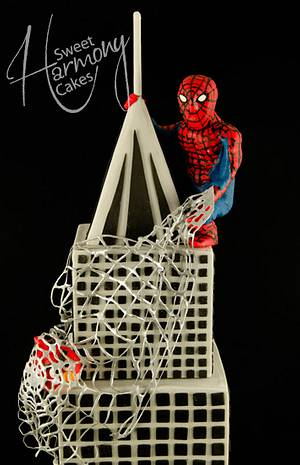 Angry spiderman - Cake by Sweet Harmony Cakes
