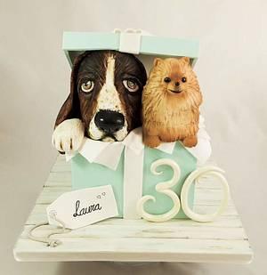 Pups cake surprise  - Cake by Vanessa Rodríguez