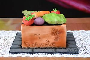 Janak's veggie crate - Cake by Mila - Pure Cakes by Mila