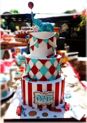 Circus cake & cupcakes - Cake by Maria