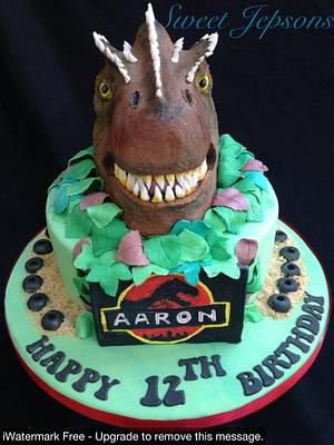 Aarons Allosaurus Cake!  - Cake by Kazza