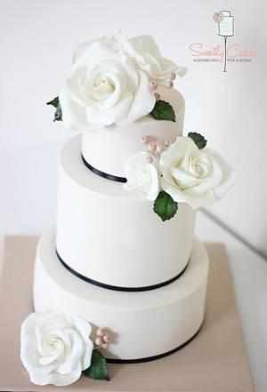 Ivory Wedding Cake  - Cake by Sweetly Cakes