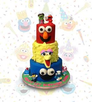 Sesame Street Faces - Cake by MsTreatz