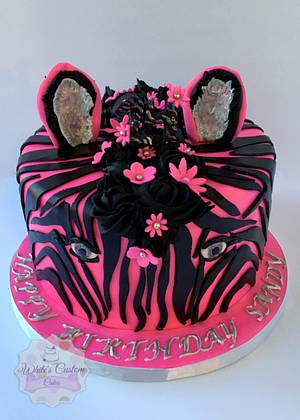 Zebra Stripes - Cake by Sabrina - White's Custom Cakes