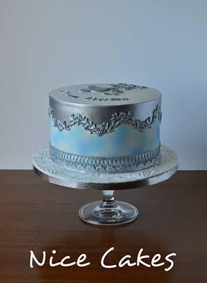 Watercolor communion cake - Cake by Paula Rebelo